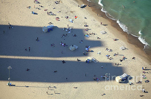 Light and Shadows on the Beach by Holger Ostwald