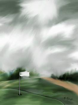 Light at the 17th Green by Frank Bright