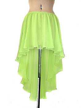 Sofia Metal Queen - Light-green chiffon high low skirt. Ameynra design 2010