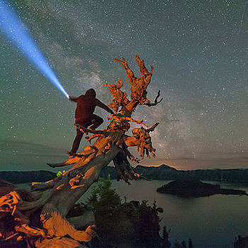 Light Guy at Crater Lake by Keith Marsh