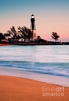 Light House at Hillsboro Inlet by Thomas Levine