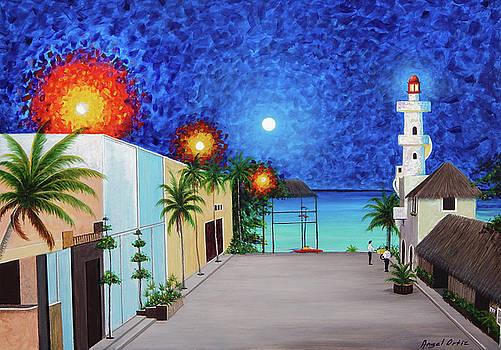 Light house Playa del Carmen version II by Angel Ortiz