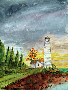 Light House Sunrise by Jack G Brauer