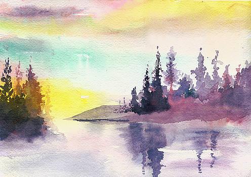 Light n River by Anil Nene