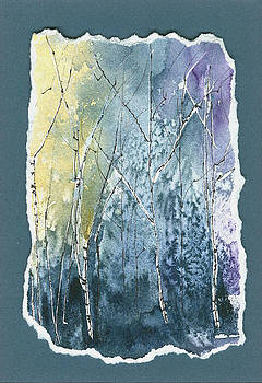Light on Bare Trees 2 by Jerry Kelley