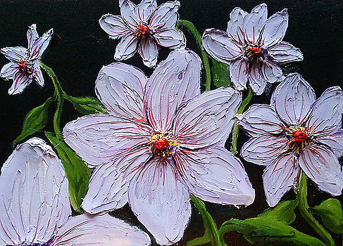 Light Purple Dahlia Flowers 1 by Portland Art Creations