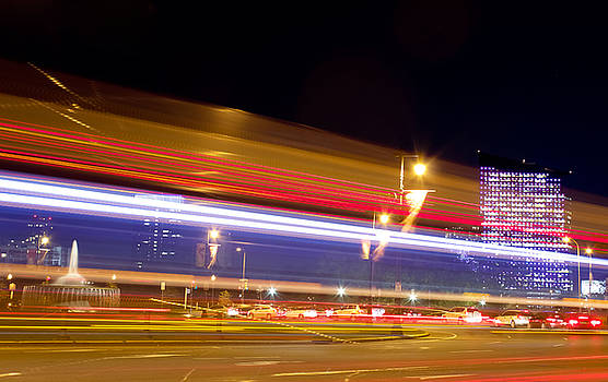 Light Trails at Night by Joscelyn Paine