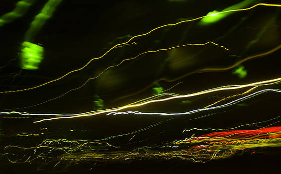 Light Trails On Sunset Strip by John Keedwell