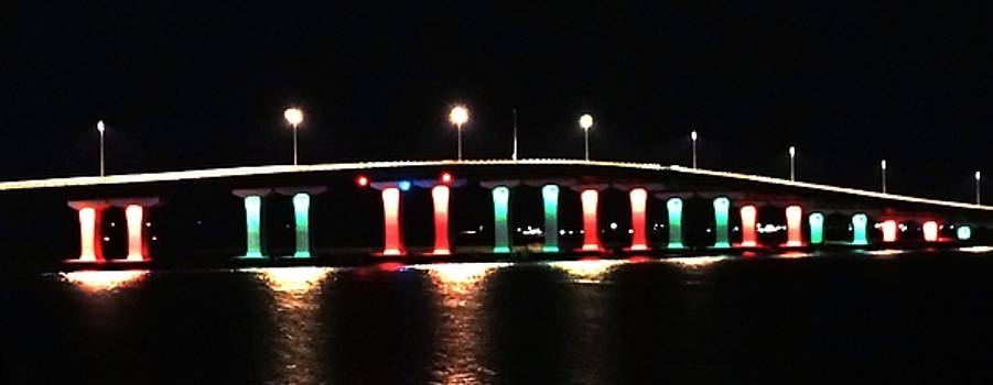 Lighted Bridge by John Wartman