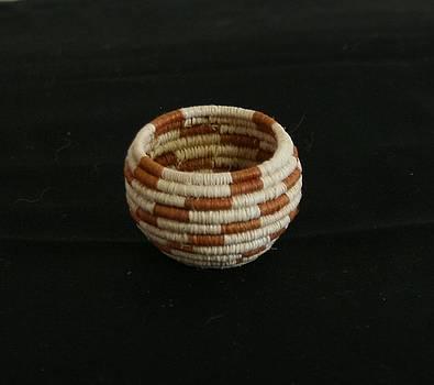 Lightening Pattern Mini Bowl Basket by Darlene Ryer