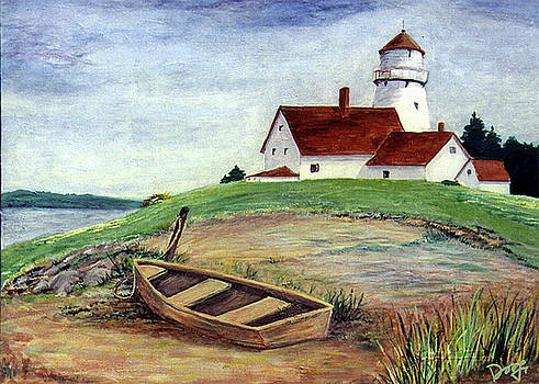 Dee Flouton - Lighthouse and dinghy