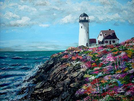 Lighthouse at Flower Point by Jack Skinner