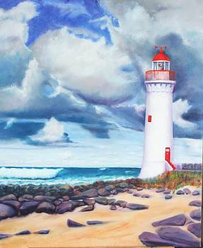 Lighthouse at Port Fairy by Mary Ann Fox