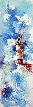 Lighthouse at storm by Kovacs Anna Brigitta