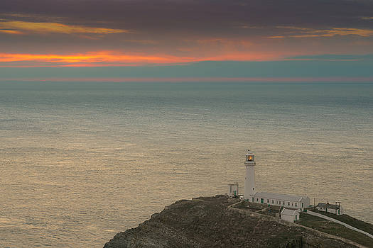 Lighthouse at Sunset,South Stack, Anglesey,North Wales by Andy Astbury