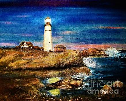 Olga Silverman - Lighthouse at Twilight