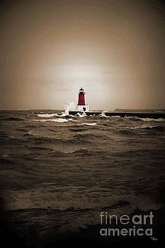 Lighthouse Glow Sepia Spot color by Ms Judi