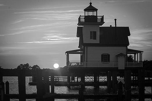 Lighthouse in Black and White by Carolyn Ricks
