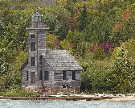 Lighthouse in Fall by Julie Underwood