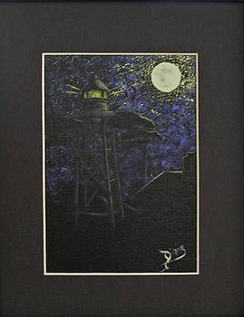 Lighthouse In the Moonlight by Dixie Hester