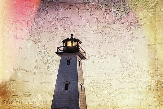 Lighthouse Map by Joan McCool