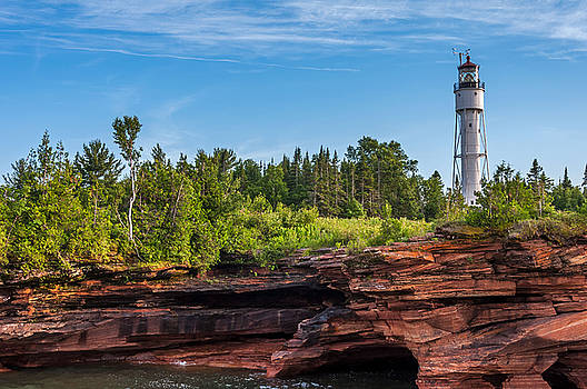 Lighthouse on Devils Island by Lonnie Paulson