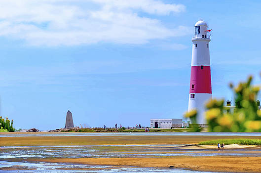 Lighthouse On The Beach Montage-scape by Clive Littin
