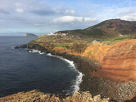 Lighthouse on the coast of Terceira by Kelly Hazel