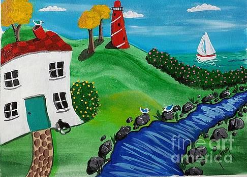 Lighthouse Stream by Karleen Kareem