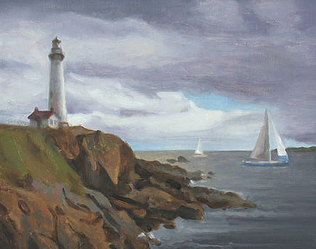 Lighthouse Study by Charles Pompilius