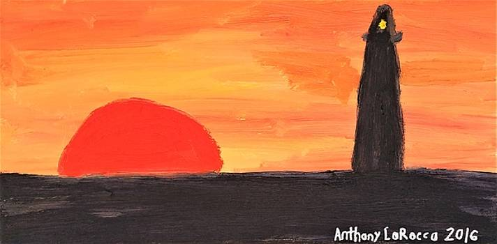 Artists With Autism Inc - Lighthouse Sunset