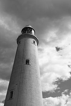 Lighthouse tower BW version by Gary Eason