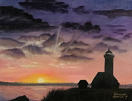 Lighthouse Twilight by Elizabeth Hannah