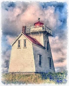 Edward Fielding - Lighthouse Watercolor
