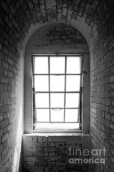 Lighthouse Window in black and white by E B Schmidt