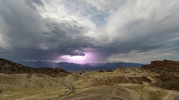 Lighting over the Amargosa Range by M C Hood