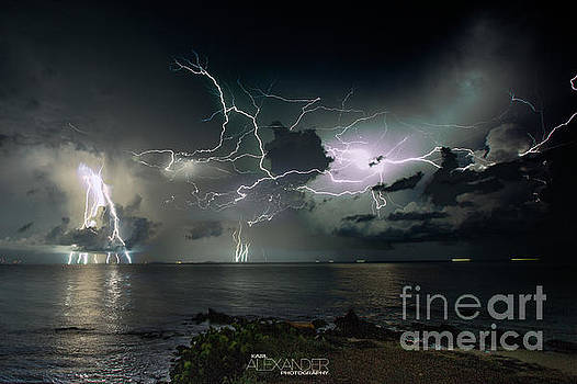 Lightning at the Bermuda Triangle by Karl Alexander