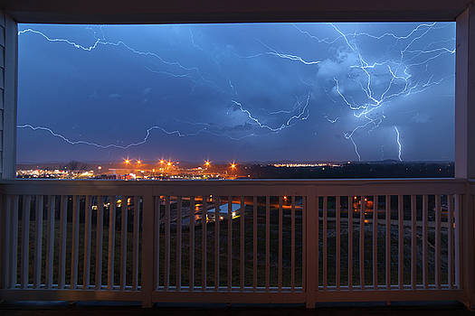 Lightning from the Balcony by Dennis Sprinkle