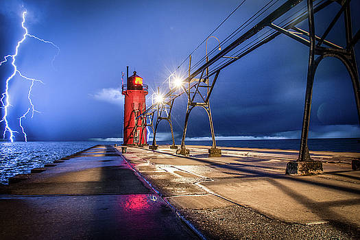 Lightning in South Haven by Colin Collins