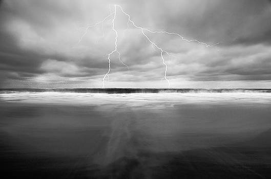 Lightning Over the Ocean by Marius Sipa