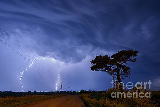Art Whitton - Lightning Storm on a Lonely Country Road