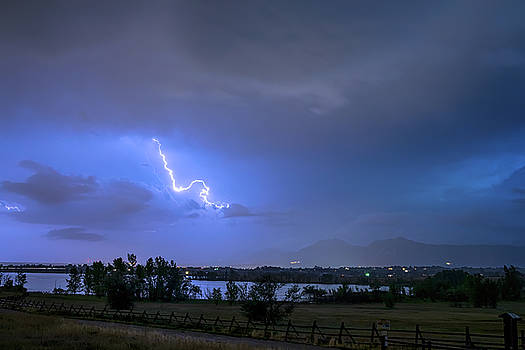 James BO Insogna - Lightning Striking Over Boulder Reservoir