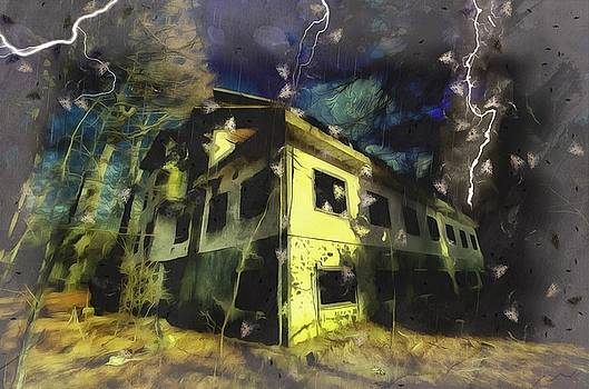 Enrico Pelos - LIGHTNINGS ON THE ABANDONED HOTEL ON THE HW MOUNTAINS - Fulmini su hotel abbandonato sull