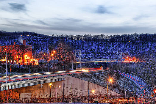 Lights On A Winter Night by Tony  Bazidlo