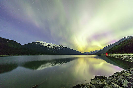 Lights Reflecting on Moose Lake by M C Hood