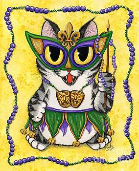 Lil Mardi Gras Cat by Carrie Hawks