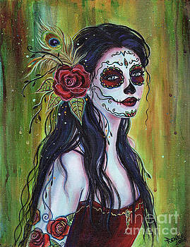 Lila day of the dead art by Renee Lavoie