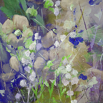 Lilac And White Flowers by Ruth Palmer