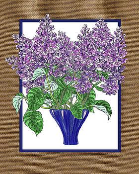 Irina Sztukowski - Lilac Garden Bouquet Watercolor