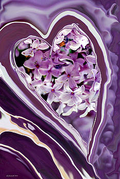 Michelle  BarlondSmith - Lilac Heart Abstract for Haiti